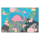 Cool Trendy Chic Cute Pink Girly Floral Flamingo Tissue Paper
