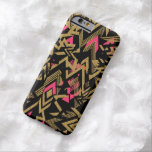 Cool trendy faux gold glitter geometric pattern barely there iPhone 6 case