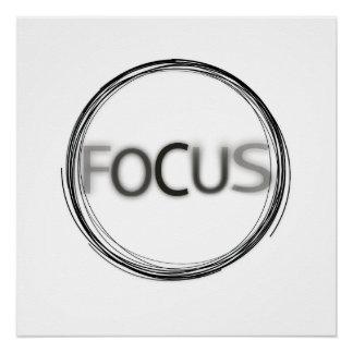 Cool Trendy Focus  Logo Modern Typography Poster