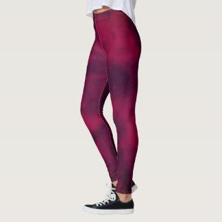 Cool trendy Maroon marble texture design Leggings