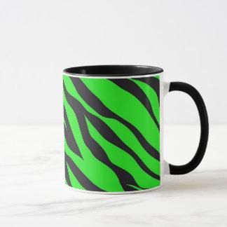 Cool Trendy Neon Lime Green Zebra Stripes Pattern