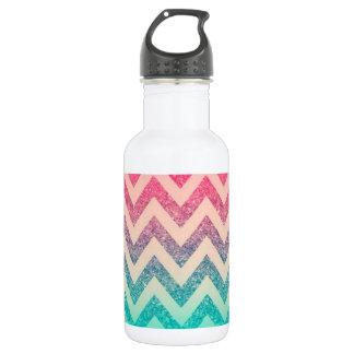 Cool Trendy  Ombre Zigzag Chevron Pattern 532 Ml Water Bottle