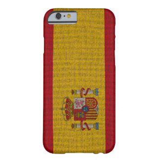 Cool trendy Spain flag burlap Barely There iPhone 6 Case