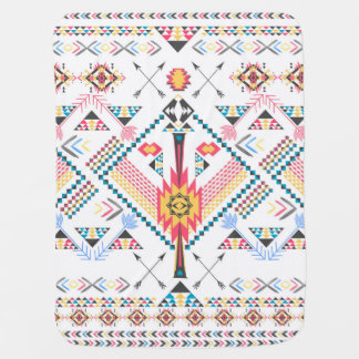 Cool trendy tribal ethnic geometric pattern baby blanket
