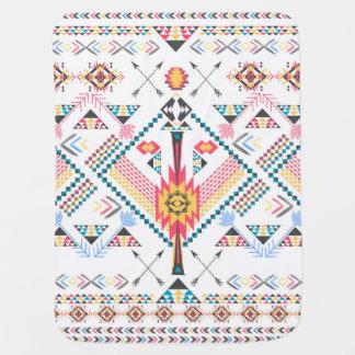 Cool trendy tribal ethnic geometric pattern baby blankets