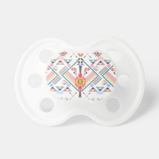 Cool trendy tribal ethnic geometric pattern baby pacifiers
