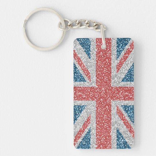 Cool trendy U.K. Union Jack flag faux glitter