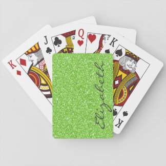 neon green aces cards pictures