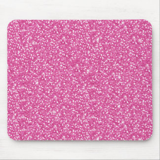 Cool trendy vibrant neon hot pink faux glitter mouse mat