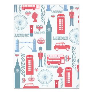 Cool trendy vintage London landmark illustrations Card