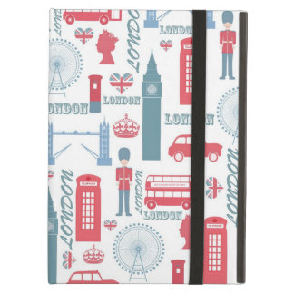 Cool trendy vintage London landmark illustrations iPad Air Case