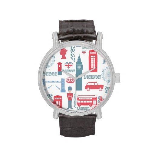 Cool trendy vintage London landmark illustrations Watch