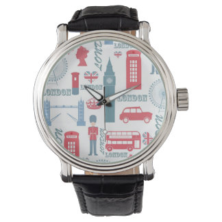 Cool trendy vintage London landmark illustrations Watch