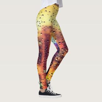Cool trendy water droplet texture design leggings