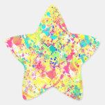 Cool trendy watercolor splatters abstract art