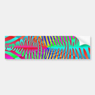 Cool trendy Zebra pattern colorful rainbow stripes Bumper Stickers