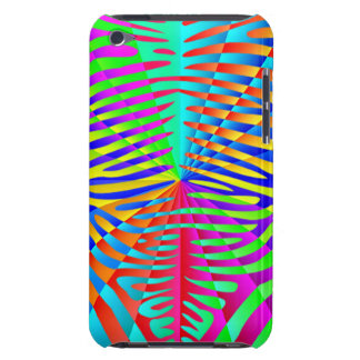 Cool trendy Zebra pattern colorful rainbow stripes iPod Touch Cases