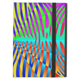 Cool trendy Zebra pattern colorful rainbow stripes iPad Air Case