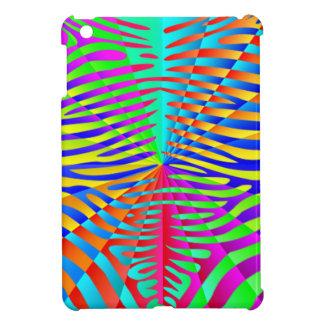 Cool trendy Zebra pattern colorful rainbow stripes iPad Mini Cases