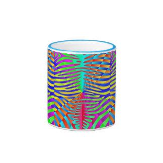 Cool trendy Zebra pattern colorful rainbow stripes Coffee Mugs