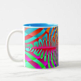 Cool trendy Zebra pattern colorful rainbow stripes Mugs