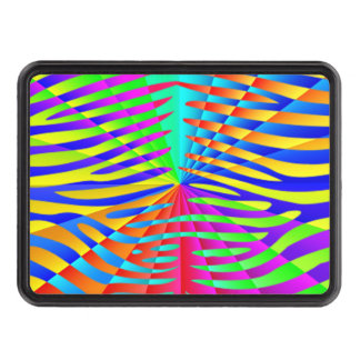 Cool trendy Zebra pattern colorful rainbow stripes Tow Hitch Covers