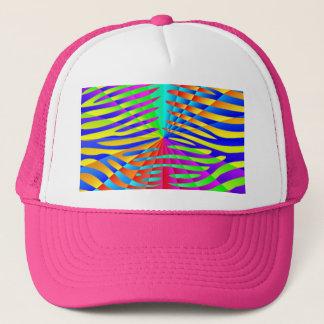 Cool trendy Zebra pattern colorful rainbow stripes Trucker Hat