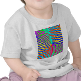 Cool trendy Zebra pattern colorful rainbow stripes T-shirts