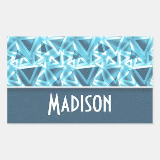 Cool Triangle; Blue Rectangular Sticker