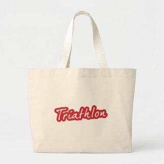 Cool Triathlon design Jumbo Tote Bag
