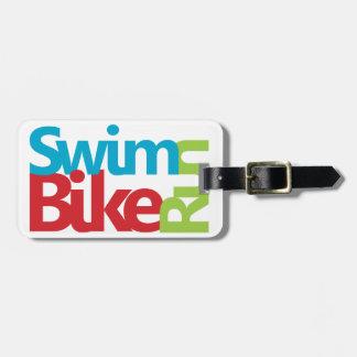Cool Triathlon design Luggage Tag