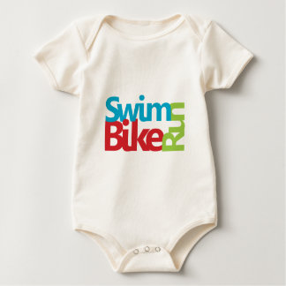 Cool Triathlon logo Baby Bodysuit