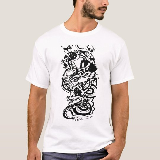 Cool Tribal Dragon Tattoo Designs Custom Art Tee