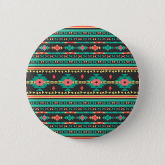 Cool tribal ethnic Navajo geometric pattern 6 Cm Round Badge