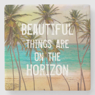 Cool Tropical Hawaiian Beach Palm Trees Stone Coaster