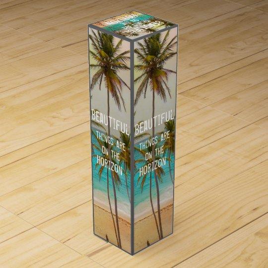 Cool Tropical Hawaiian Beach Palm Trees Wine Box