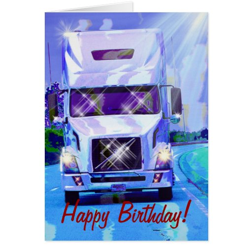 Truck Driver Truck Driver Birthday Wishes