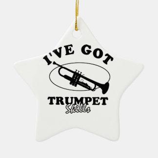 Cool trumpet musical instrument designs ceramic star decoration