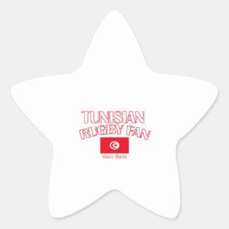 cool Tunisian rugby fan DESIGNS Star Sticker
