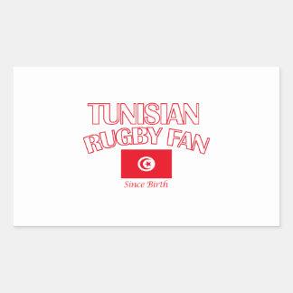 cool Tunisian rugby fan DESIGNS Rectangular Sticker