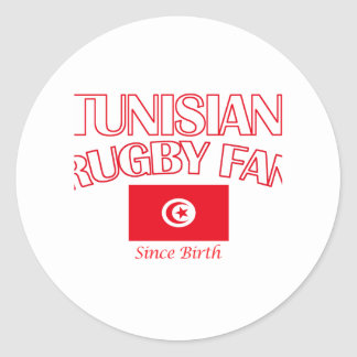 cool Tunisian rugby fan DESIGNS Classic Round Sticker