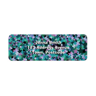 Cool Turquoise Star Pattern - Rock chick style