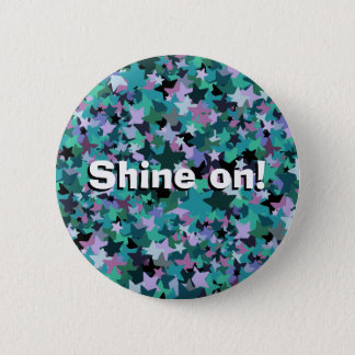 Cool Turquoise Star Pattern - Rock chick style 6 Cm Round Badge