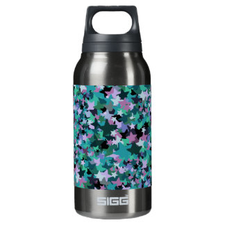 Cool Turquoise Star Pattern - Rock chick style Insulated Water Bottle