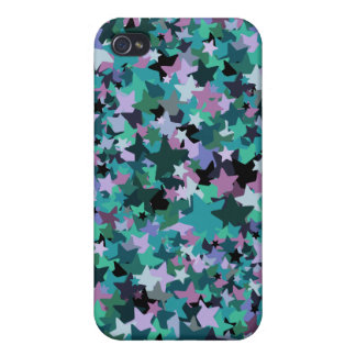 Cool Turquoise Star Pattern - Rock chick style Cases For iPhone 4