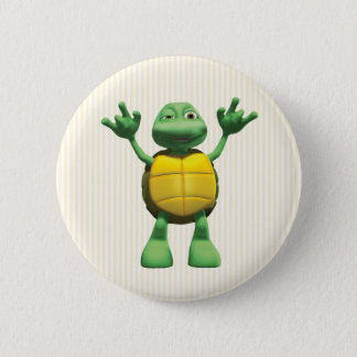 Cool Turtle 6 Cm Round Badge