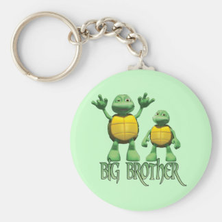 Cool Turtles Big  Brother Basic Round Button Key Ring