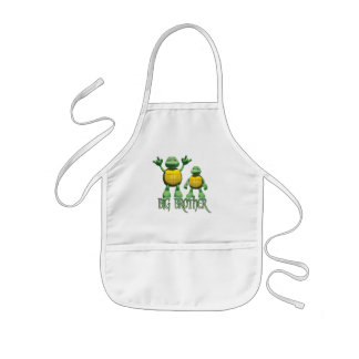 Cool Turtles Big Brother Kids Apron