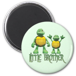 Cool Turtles Little Brother 6 Cm Round Magnet