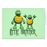 Cool Turtles Little Brother Note Card